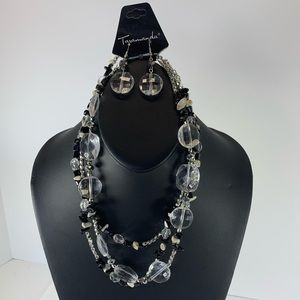 Jewelry - 5/$25 Black and Silver Beaded Necklace Set
